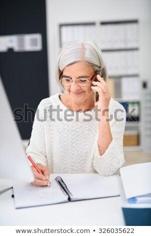 Sekreter konuşma telefon yazı gündem kadın Stok fotoğraf © photography33