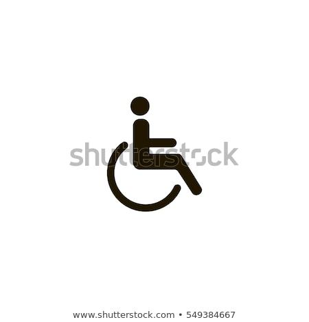 parkeren · teken · gehandicapten · mensen · Blauw · gehandicapten - stockfoto © photosil