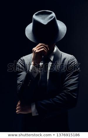 złodziej · sexy · wskazując · pistolet · ciszy · bezpieczeństwa - zdjęcia stock © curaphotography