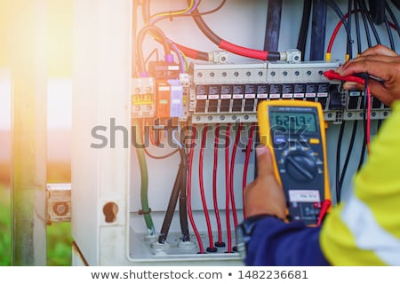 Worker with a voltmeter Stock photo © photography33
