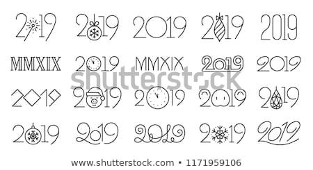 Happy new year carte typographie lettres type police Photo stock © thecorner
