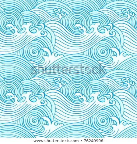 бесшовный · океанская · волна · шаблон · текстуры · моде · природы - Сток-фото © creative_stock