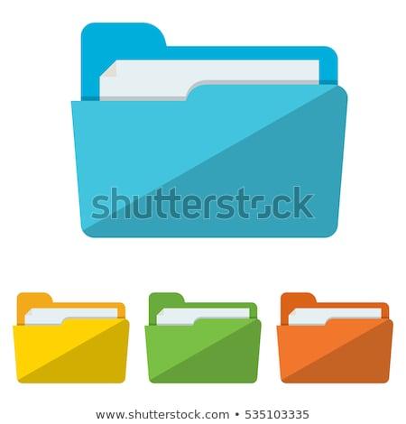 Blue Folder with Infograph Icon. Stock photo © tashatuvango