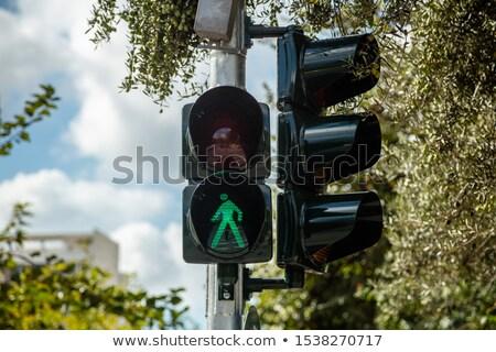 Gyalogos zöld világoszöld fény gyalogosok konzerv Stock fotó © idesign