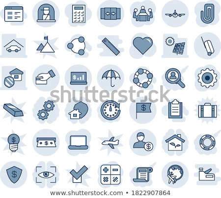 Laptop with blue globe and gold arrows Stock photo © gladiolus