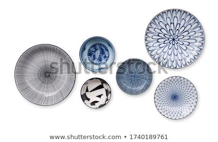 Antique  porcelain set  in modern style. Stock photo © Pilgrimego