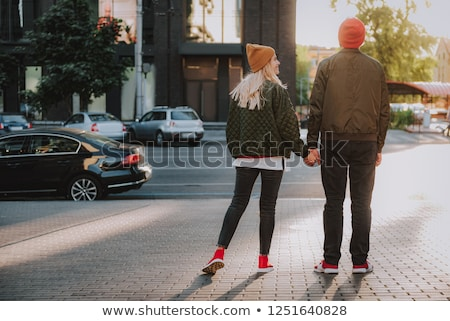 blond guy standing on sidewalk Stock photo © curaphotography