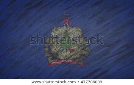Bandeira Vermont lousa pintado giz americano Foto stock © vepar5