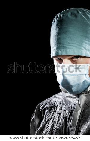 Katil doktor erkek doktor stetoskop beyaz kat Stok fotoğraf © stevanovicigor