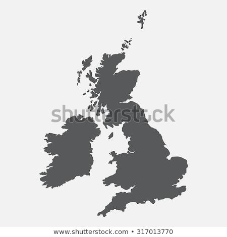 Groot-brittannië kaart oude schip reizen vlag Stockfoto © ankarb