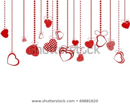 valentine hearts pink stvalentines day eps 8 stock photo © beholdereye