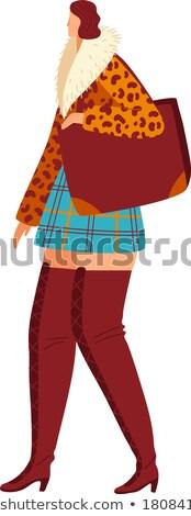 Elegantie modieus modieus bevallig vrouw permanente Stockfoto © gromovataya