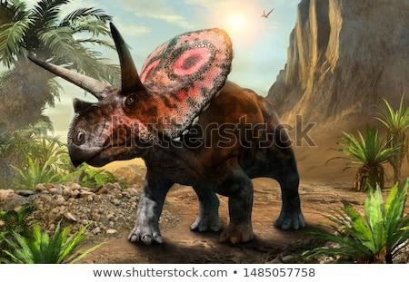 恐竜 · 北 · アメリカ · 遅い · 3dのレンダリング · 3D - ストックフォト © aliencat