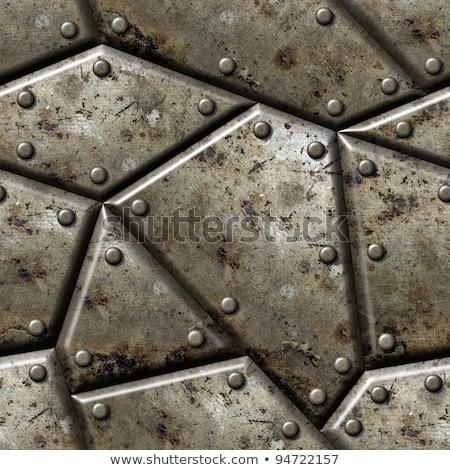 rusty iron seamless texture stock photo © tashatuvango