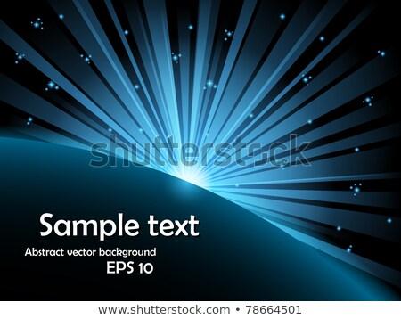 zielone · świetle · wybuch · gwiazdki · wybuchu - zdjęcia stock © articular
