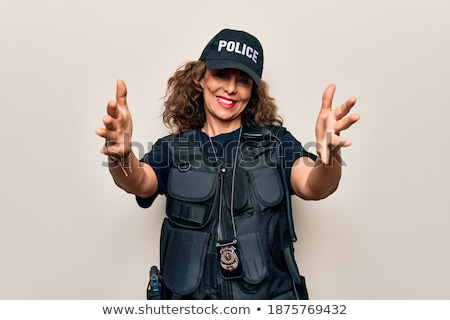 armed policewoman stock photo © iofoto