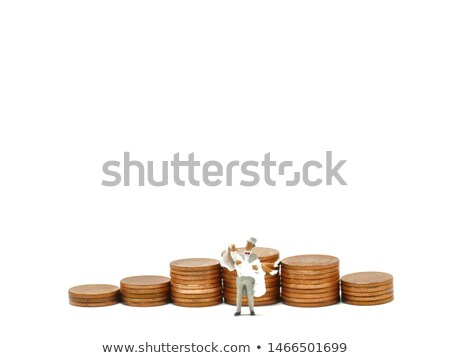 Get Rich - Figure Standing in Dollars Stock photo © iqoncept