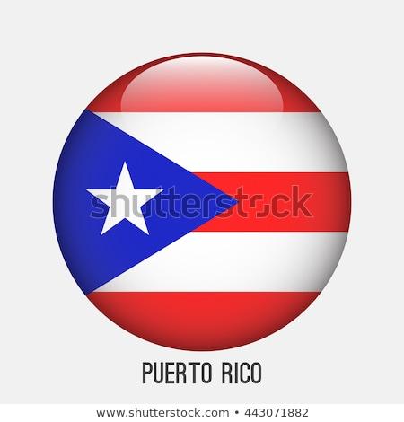 стекла · кнопки · флаг · Пуэрто-Рико · красный · лук - Сток-фото © maxmitzu