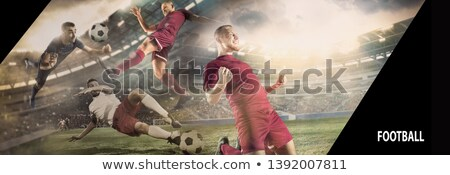résumé · vague · football · club · Rainbow - photo stock © rioillustrator