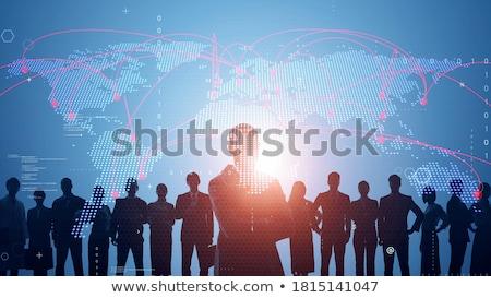 Global Einheit Papier Menschen stehen Stock foto © iofoto