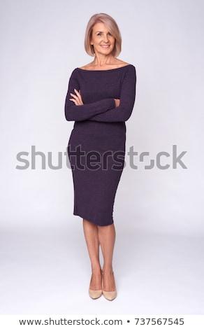 gelukkig · tevreden · aantrekkelijk · rijpe · vrouw · portret · mooie - stockfoto © doupix
