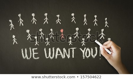 we want you chalk drawing stock photo © kbuntu