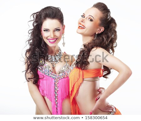 Performance. Couple of Women in Theatrical Costumes. Nightlife Stock photo © gromovataya