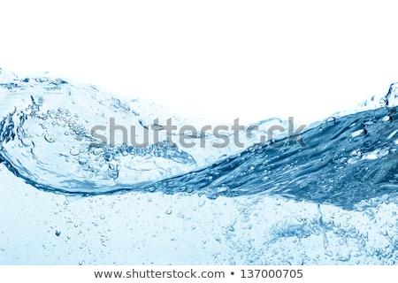 Resumen azul fluido salpicaduras luz belleza Foto stock © Arsgera