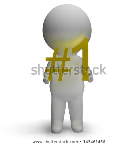 Number One 3d Character Shows First Place Stock photo © stuartmiles