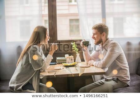 пару · кафе · человека · кофе · окна · красоту - Сток-фото © carbouval
