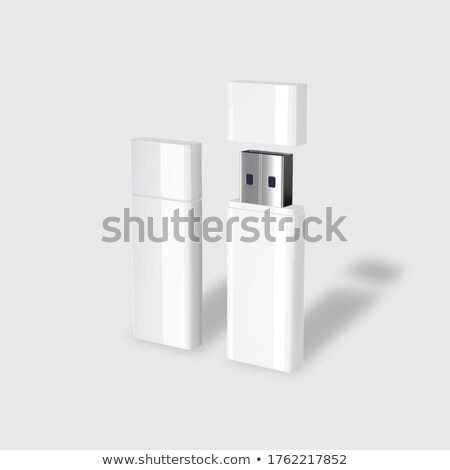 usb flash drive and cloud on white background isolated 3d image stock photo © iserg