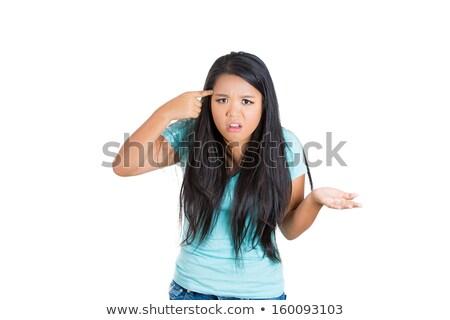 mujer · arma · estrés · plazos · reloj · tiempo - foto stock © gromovataya