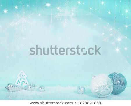 wesoły · christmas · festiwalu · powitanie · srebrny · piłka - zdjęcia stock © leonardi