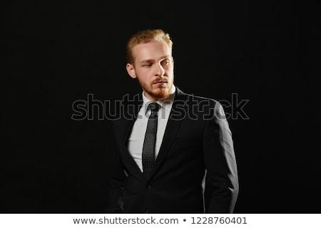 nero · sexy · cravatta · bella · donna · sexy · indossare - foto d'archivio © dash