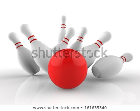bowling · 3d · render · concept · 3D · geïsoleerd · geven - stockfoto © stuartmiles