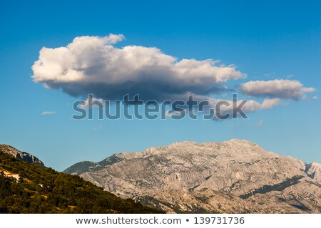 Clouds above Biokovo Mountain Range, Dalmatia, Croatia Stock photo © anshar