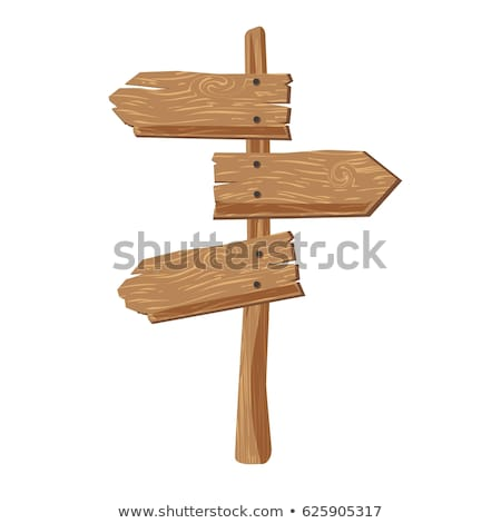 three wooden signs stock photo © clairev