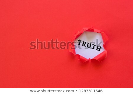 Integrity Torn Paper Concept Stock photo © ivelin