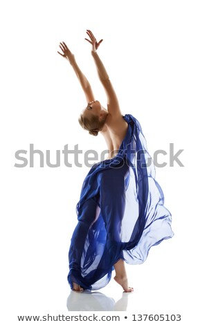 beautiful elegant topless woman exercising stock photo © stryjek