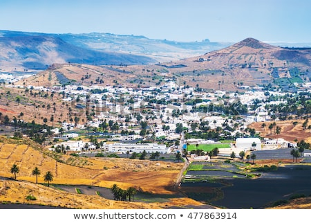 Landscape Lanzarote, Small town Haria Stock photo © meinzahn