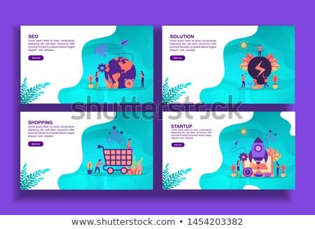 Seo puzzel ontwerp puzzelstukjes tekst Stockfoto © marinini