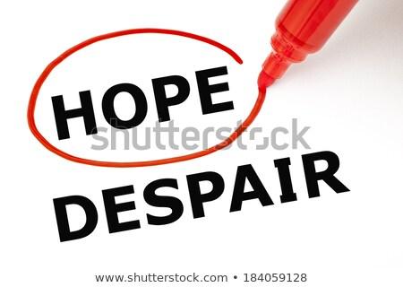 Nadzieję rozpacz czerwony znacznik wybrany Zdjęcia stock © ivelin