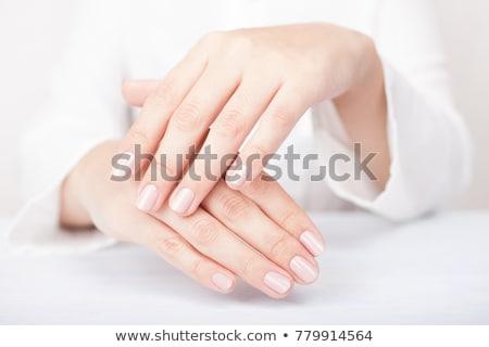 Női puha bőr kezek testrészek kozmetika Stock fotó © dolgachov