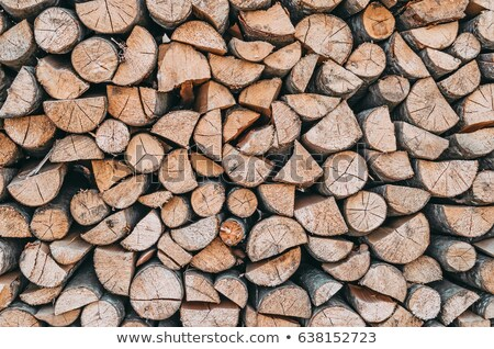 Bois de chauffage cheminée feu bois nuit pierre Photo stock © Nejron