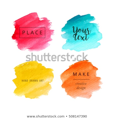 Watercolor Blot Frame Stock photo © adamson