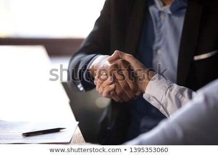businesspeople - closeup handshake Stock photo © dgilder