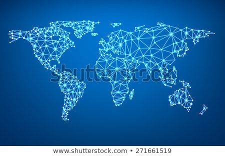 modern cloud globals infographic concept background stock photo © davidarts