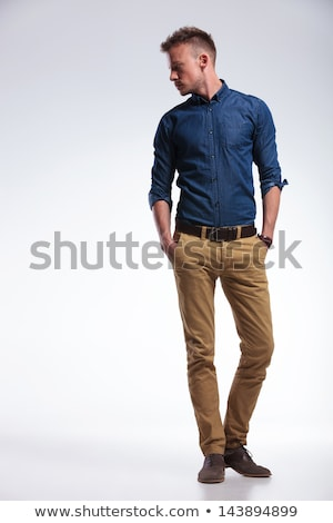 dramatic fashion man with hands in his pockets Stock photo © feedough