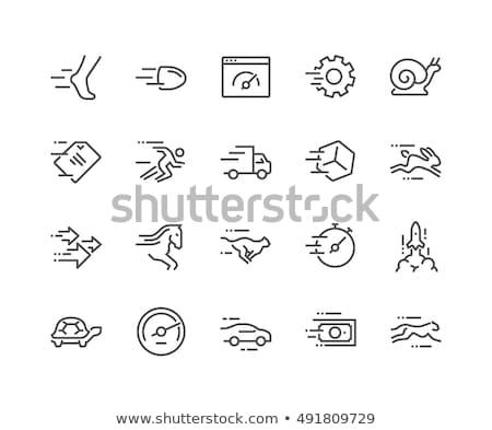 ikon · gyűjtemény · gyors · hatékony · sebesség · gyors · terv - stock fotó © krisdog