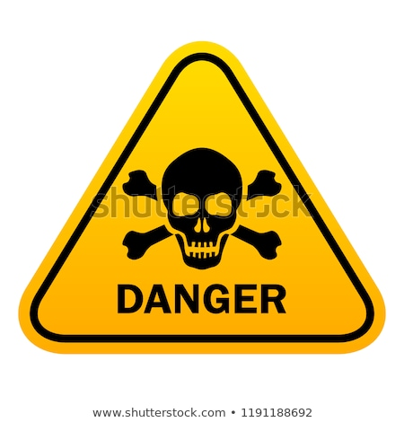 stamp danger with a skull stock photo © ustofre9